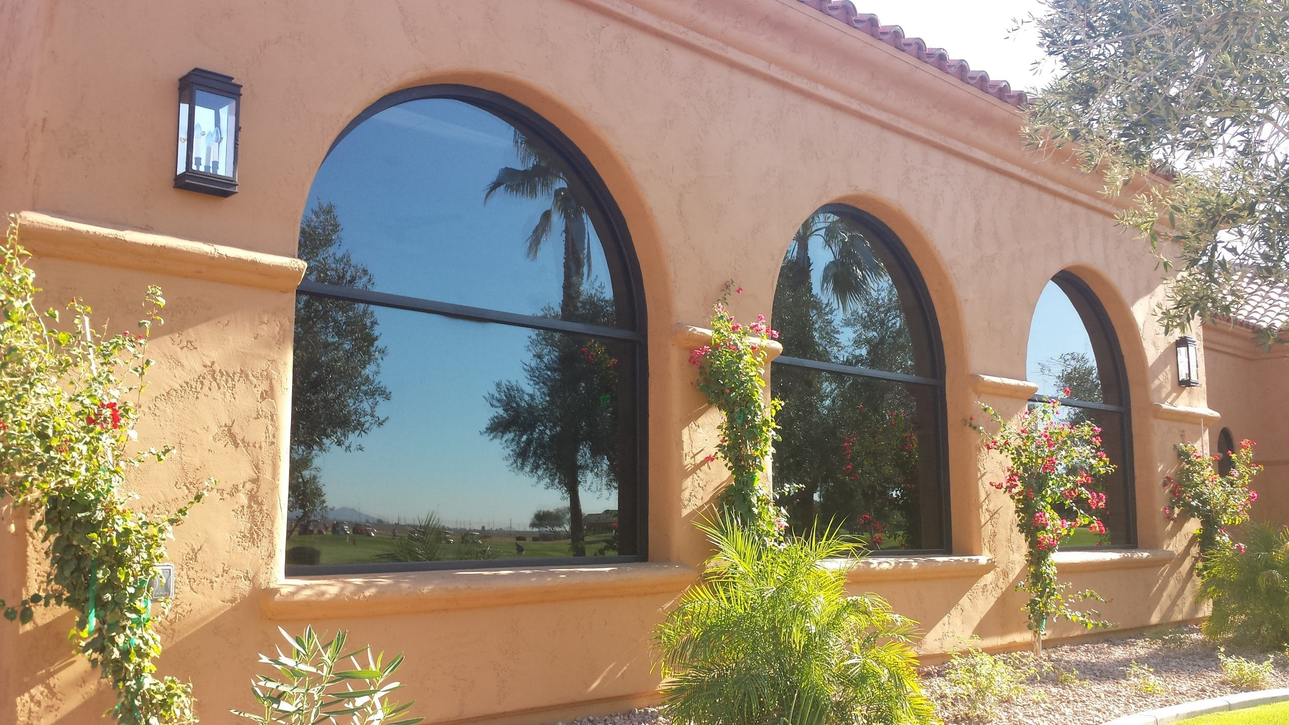 Residential windows - exterior custom window design with arches