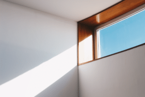 Light shining through window - energy efficient window replacement