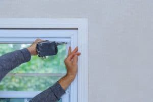 Window replacement being completed by professional installer